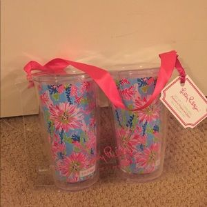 Two Lilly Pulitzer Tumblers